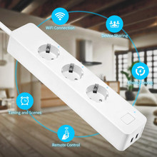 WiFi Intelligent Plug Power Strip/Surge Protector for Amazon Alexa Google Voice Control Remote Switch Smartsocket IFTTT linkage(China)