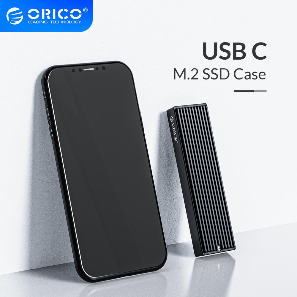ORICO M 2 NVME Box USB C Gen2 10Gbps PCIe SSD Case For 2230 2242 2260 2280 SSD M2 SATA NGFF 5Gbps SSD Enclosure Heat Dissipation