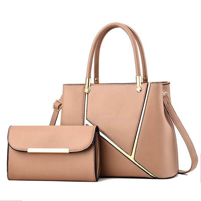 Sacs à main Pu de luxe 2 en 1 pour femmes   Lot de sacs à bandoulière pour dames, sacs à main de luxe de styliste, 2020