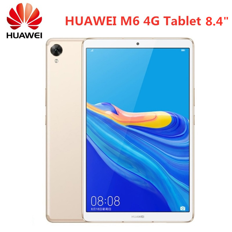 HUAWEI M6 4G Phablet планшетный ПК Android 9,0 Hisilicon Kirin 980 Восьмиядерный Mediapad 4 Гб 64 Гб 7500 мАч 2560x1600 отпечаток пальца 8,4''