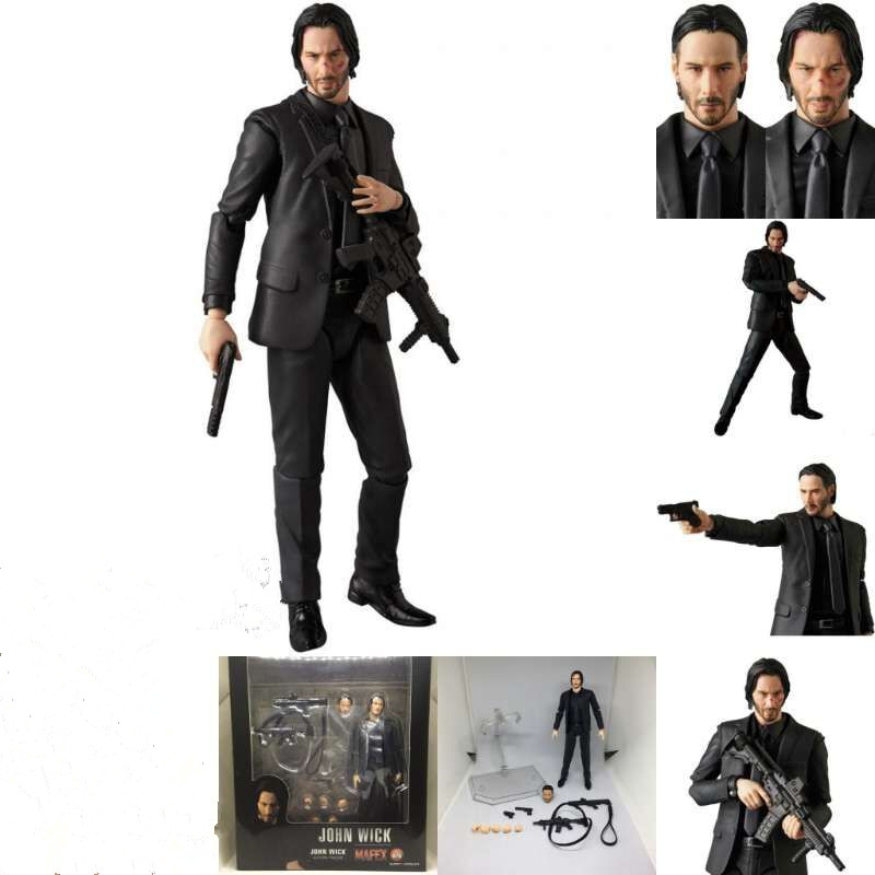 15cm Movie JOHN WICK Action Figure MAFEX NO.070 JOHN WICK PVC  Movable Collection Of Toy Gifts