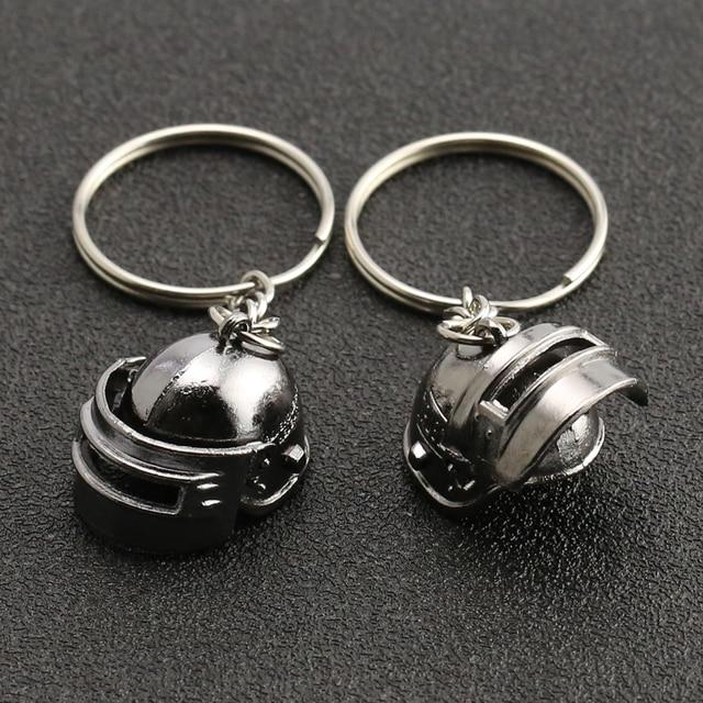 PUBG Keychain Playerunknowns Battlegrounds Backpack Armor Helmet Pan 98k Flare Gun Keyring Key Chain Ring Army Jewelry Wholesale 2