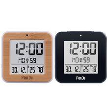 Dual-Alarm-Clock Radio-Controlled Table Digital Backlight DCF Automatic