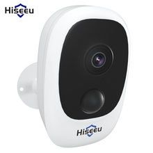 1080P واي فاي بطارية كاميرا IP في الهواء الطلق قابلة للشحن كاميرا IP لاسلكية PIR مقاوم للماء كشف الحركة App عرض Hiseeu