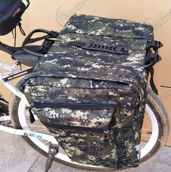 Bolsa trasera para bicicleta 2 en 1, de 35L, Camo, para asiento...