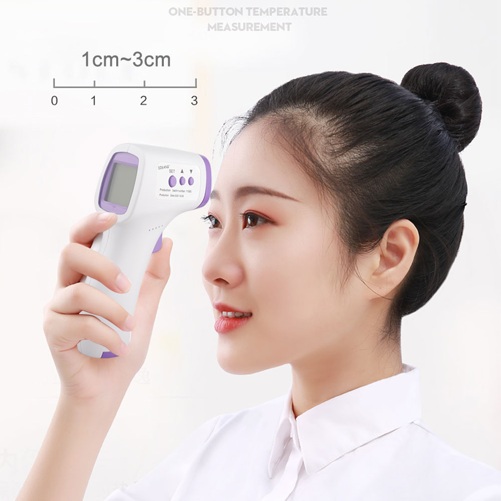 Digital Household Forehead Infrared Human Thermometer Non-Contacts Body Temperature Meter