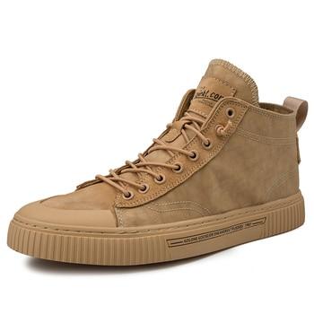 2019 New Shoes Men Casual Shoes High Top Sneakers Men Vulcanized Shoes Platform Sneakers Quality Men