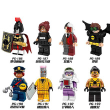 PG8052 Super Heroes Rome Batman Spider Woman Eraser Man Robin Two Face Barbara Gordon Building Blocks  Figures For Children Toys