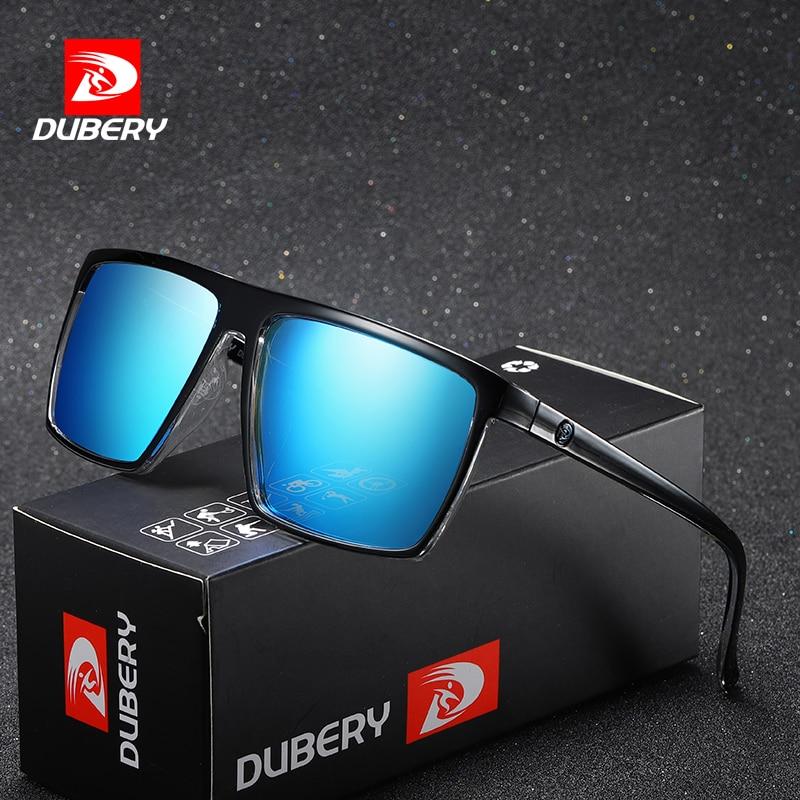 DUBERY Vintage Sunglasses Polarized Men's Sun Glasses For Men Driving Black Square Oculos Male 8 Colors Model 369