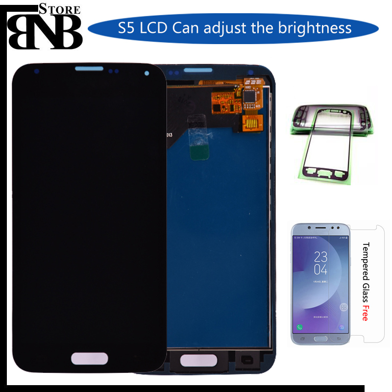 100% Tested LCD For <font><b>Samsung</b></font> Galaxy S5 i9600 G900 <font><b>G900F</b></font> G900A LCD <font><b>Display</b></font> with Touch Screen Digitizer Assembly free shipping image