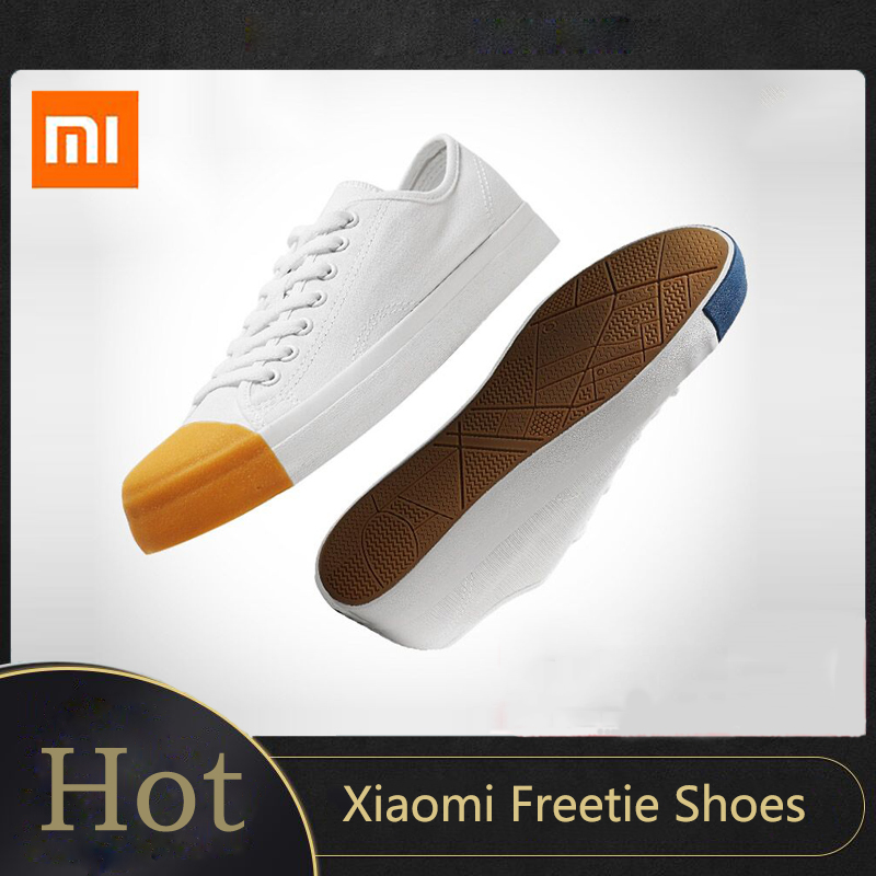 Xiaomi Mijia Youpin Freetie Match Head Canvas Shoes Hot Classic Small White Shoes 3 Colors Sport Casual Sneakers For Fashion Boy
