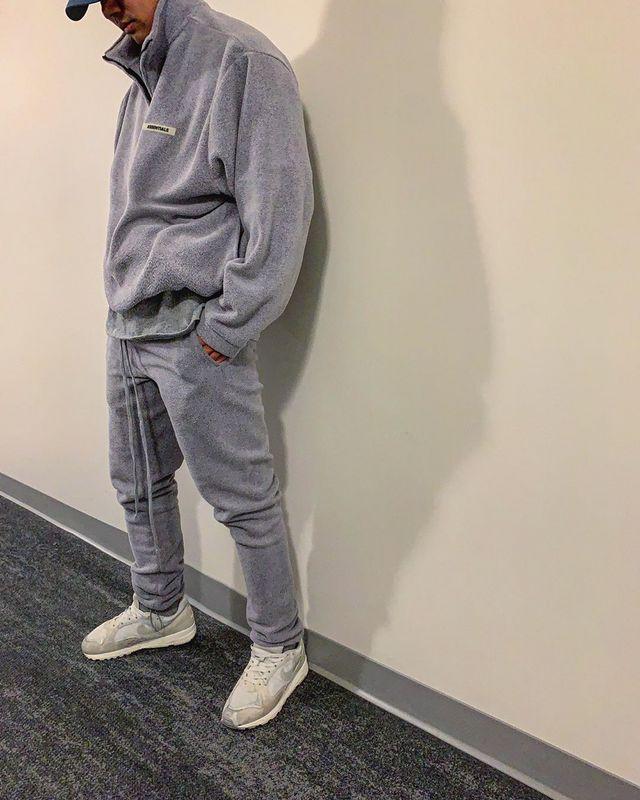 2020ss 1:1 Quality FOG Essentials Sweatpants Men Women Winter Polar Fleece Warm FG HipHop Oversized Casual Pants Tracksuit