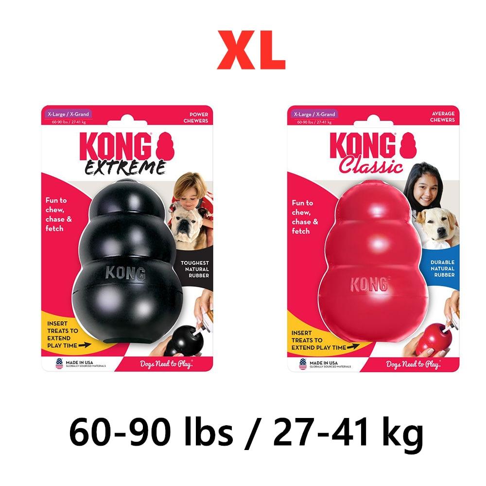 XL-Размер KONG Классическая собака жевательная игрушка Коллекция до 60-90lbs(27-41 кг)