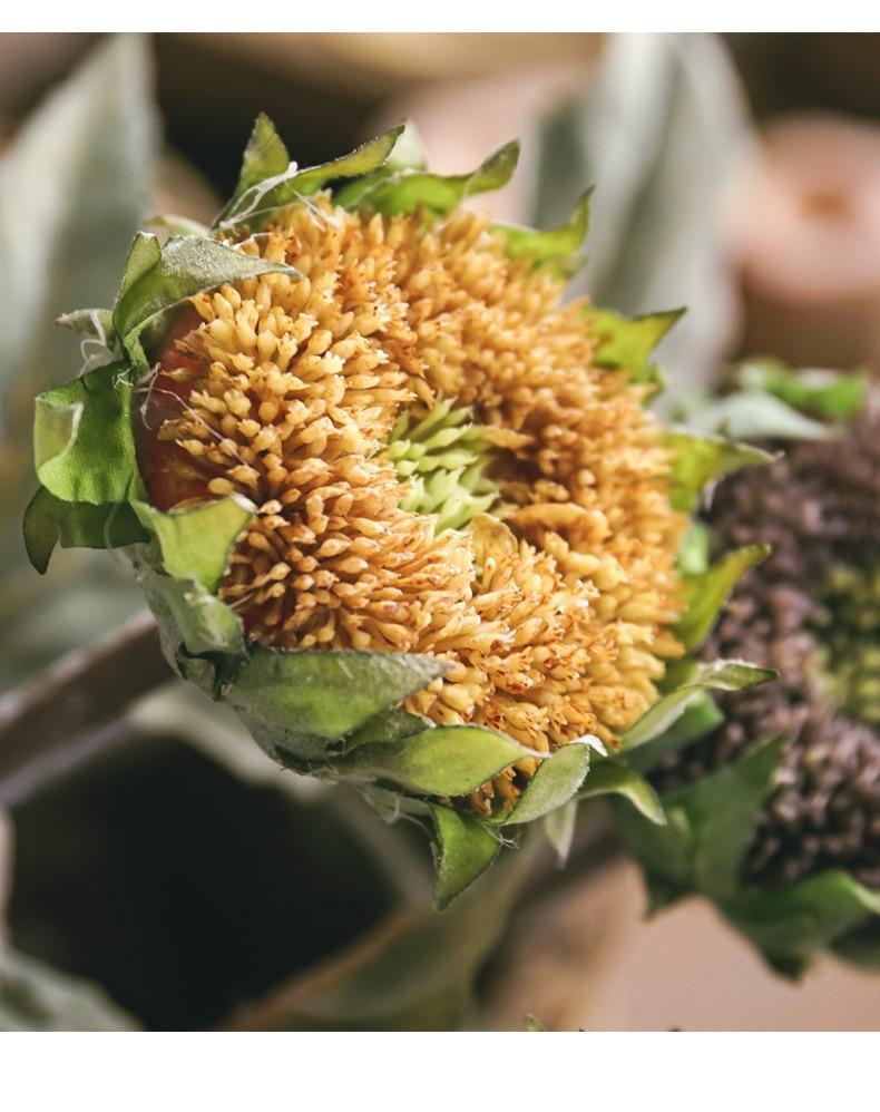 1Pcs Artificial Sunflower Fake Flower High Quality Simulation Silk Sunflower For Wedding Home Christmas Decoration QW16 (2)