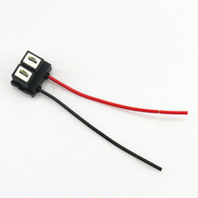 цена на HONGGE 1Pcs Replacement H7 Headlight Light Bulb Wire Connector Plug Socket Pigtail For Passat Santana 3000