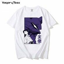 Japón Anime Evangelion eva shinji T camisa de los hombres Manga Unisex Streetwear camiseta pantalón corto Casual Manga Camiseta Hombre