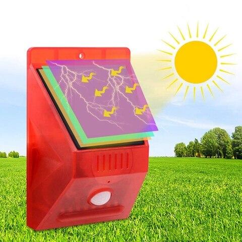 szyoumy alarme solar luz estroboscopica piscando 8