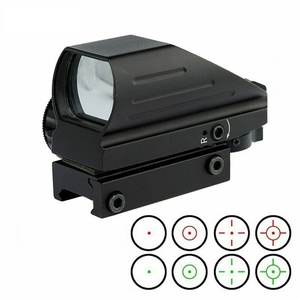Taktik holografik kırmızı/yeşil refleks kapsam Sight Combo 4 Reticles HD103 nokta silah nişan dürbünü Airgun Sight avcılık 20mm ray montaj AK