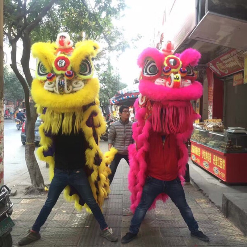 Premium Wool Lion Dance Costume Lion Dancing Clothing Southern Double adult Lion Dance Outfit
