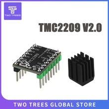 Mks tmc2209 2209 peças de impressora stepstick motorista motor passo 3d 2.5a uart ultra silencioso para sgen_l gen_l robin nano