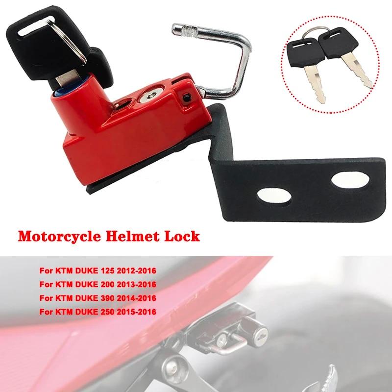 Motorcycle Anti-Theft Helmet Lock with Keys for KTM Duke 125 2012-2016 Duke 200 2013-2016 Duke 390 2014-2016 Duke 250 2015-2016-Yellow