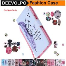 DEEVOLPO Leather Phone Covers For Motorola Moto G4 G5 Plus Magnetic Book Cases Play Mini Pattern Funda Para DP06G