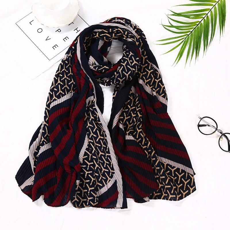 Women Fashion Airplane Patchwork Viscose Shawl Scarf High Quality Print Soft Wrinkle Pashmina Stole Bufandas Muslim Hijab Snood