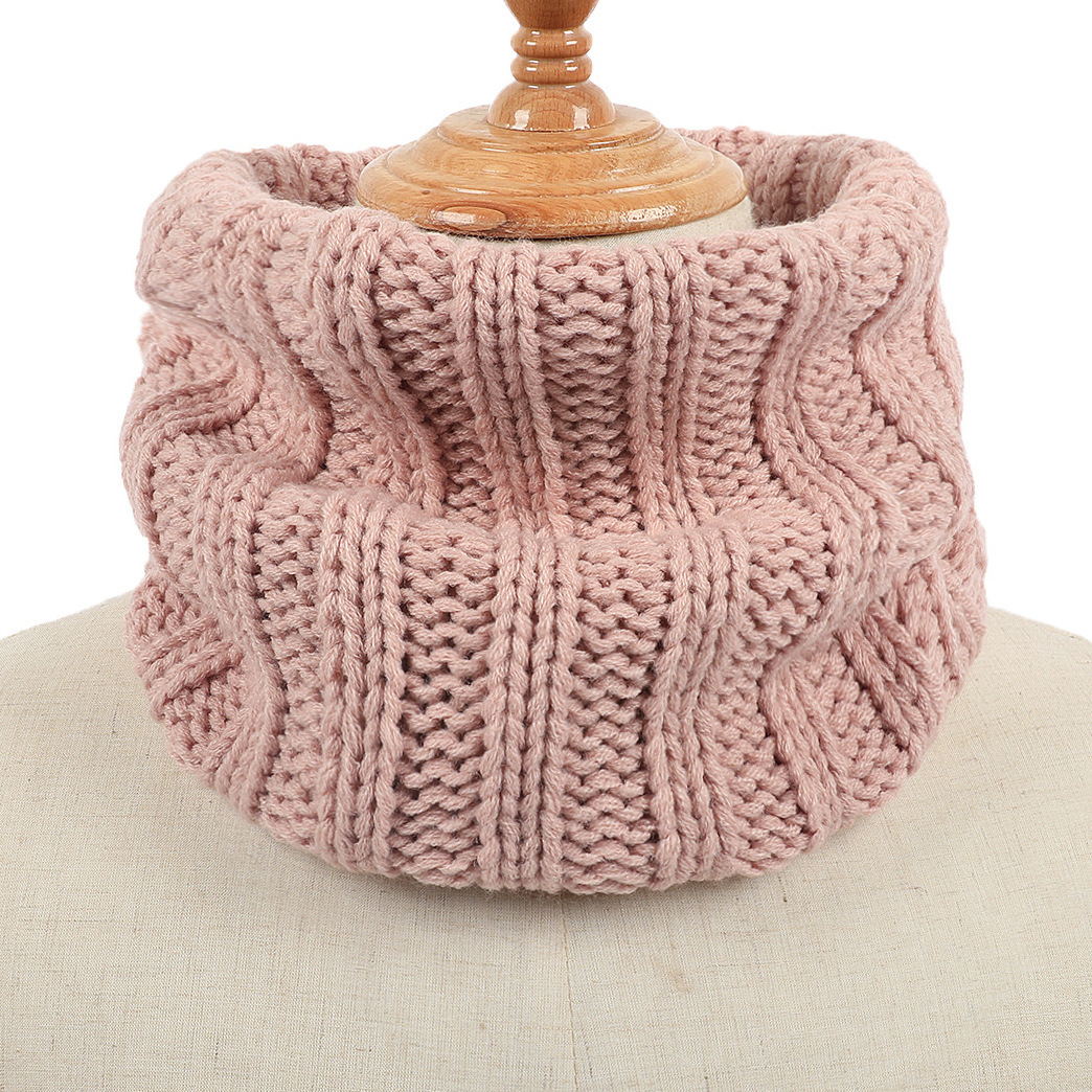 Fashion Winter Knitted Neck Warmer Scarf For Man Woman Winter Warm Ring Circle Scarves