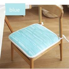Подушка плюшевая для стула однотонная 45 х45 см обеда сада дома