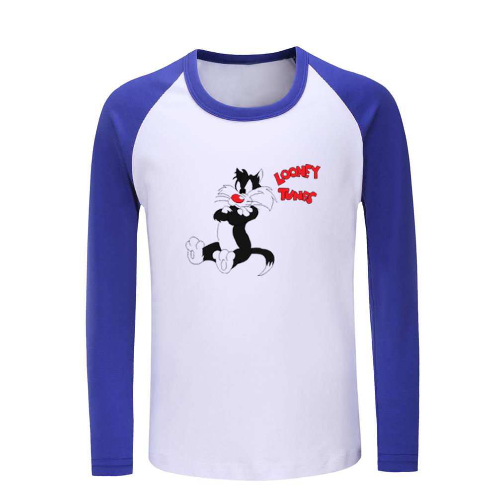 Cute Cat Pattern Boys Print Graphic Tee Short Sleeve T-Shirt