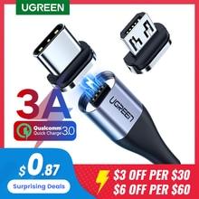 UGREEN Magnetische Ladung Kabel Schnelle Lade USB Typ C Kabel Magnet Micro USB Daten Lade Draht Handy Kabel USB schnur