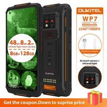 OUKITEL WP7 8GB 128GB 8000mAh 6.53''  Infrared night vision Mobile Phone Octa Core 48MP Triple Cameras Rugged Smartphone