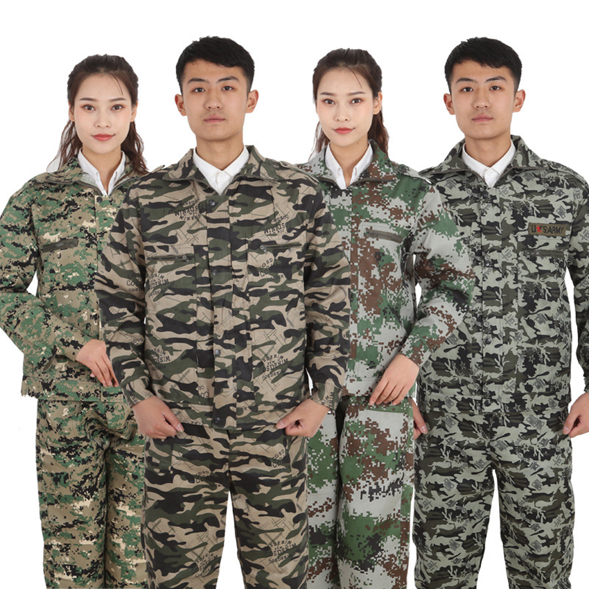 Full Sleeve Desert Camouflage Tactical Military Uniform US Army Suit Man Training Hunting Combat Security Clothing Set