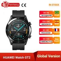 Huawei-Reloj inteligente GT2, smartwatch de 46mm GT 2, dispositivo impermeable, con monitor de frecuencia cardíaca, con GPS y llamadas telefónicas, pantalla AMOLED de 1.39