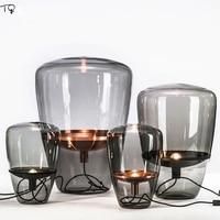 Işıklar ve Aydınlatma'ten Sıra Lambaları'de Çek tasarım brok... balonlar cam masa lambası Led Modern Minimalist dekor ev iç mekan aydınlatması yatak odası çalışma oturma odası kahve