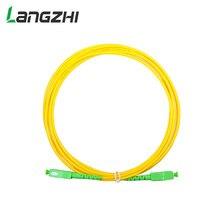10 adet/torba Sc Apc 3m simpleks modlu Fiber optik yama kablosu kablo Sc Apc 2.0mm veya 3.0mm ftth Fiber optik bağlantı kablosu