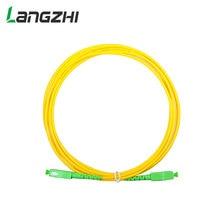 10 sztuk/worek Sc Apc 3m Simplex tryb światłowodowy kabel krosowy Sc Apc 2.0mm lub 3.0mm włókien światłowodowych Ftth kabel Jumper