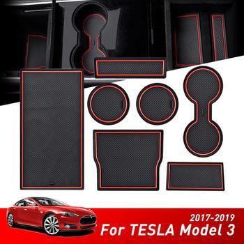 Dla Tesla Model 3 konsola antypoślizgowe gniazdo drzwi centrum ochrony podkładka pod kubek Auto części dekoracja wnętrz tanie i dobre opinie JWOPR CN (pochodzenie) Żel krzemionkowy