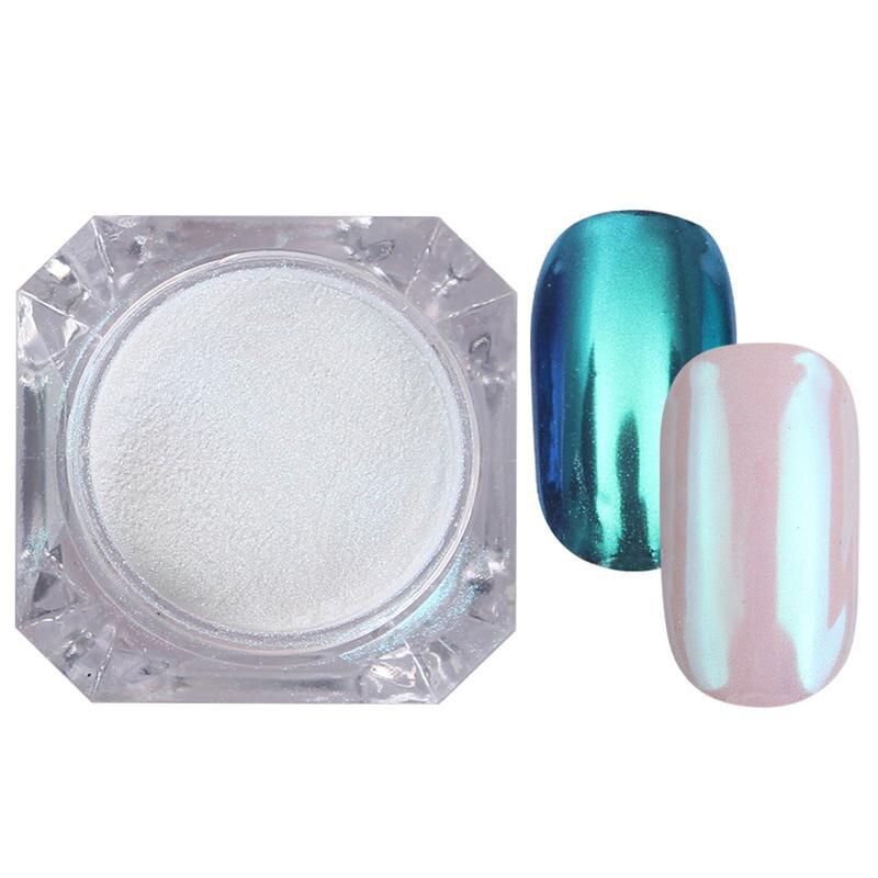Rose Gold Bubble Mirror Powder Metallic Nail Glitter Holographics Chrome Dust Sparkling Flakes Pigment Manicur Nail Art Decor 68