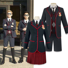 Woman Men 6 PCS The Umbrella Academy Number Five Cosplay Costume Halloween Dresses College Clothing