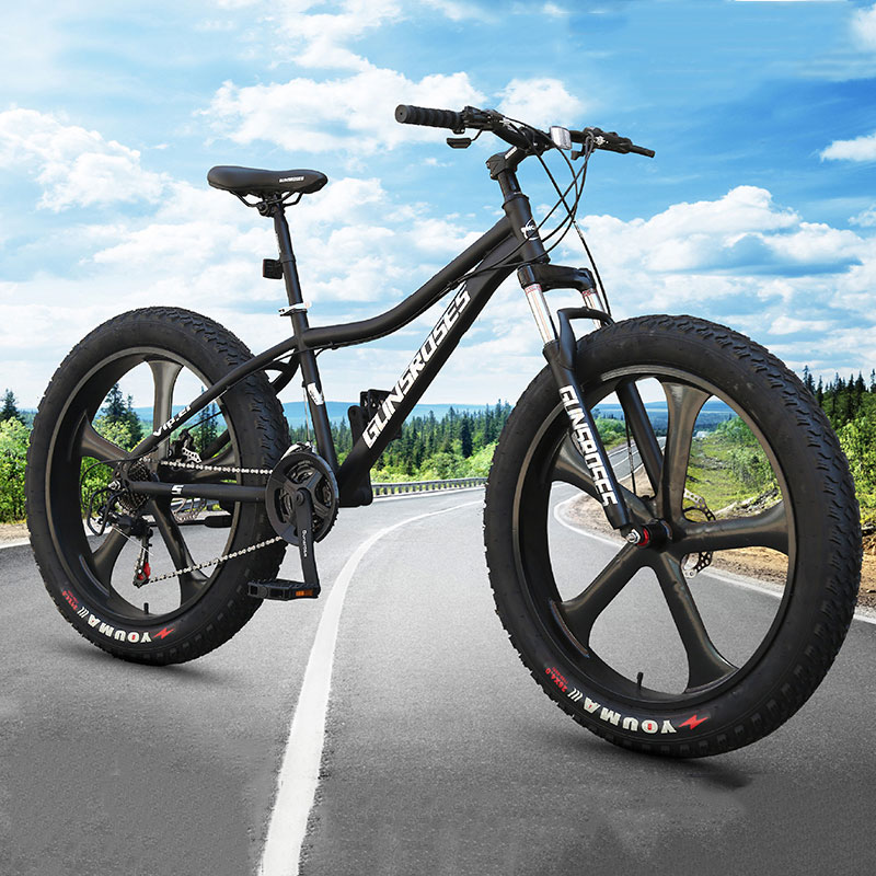 Mountain Bike 4.0 Super Wide Tire Snow Bike Off-road Bicycle Male And Female Students Beach Adult Bicycle Five-knife Wheel