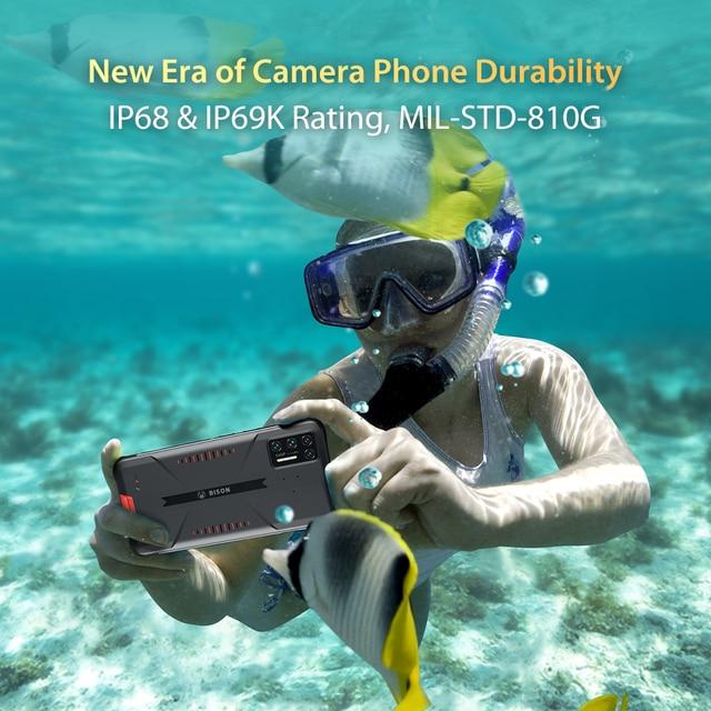 "UMIDIGI BISON GT Waterproof IP68/IP69K Helio G95 Rugged Phone 64MP AI Quad Camera 8GB+128GB 6.67"" FHD+ 33W Charger Smartphone 6"