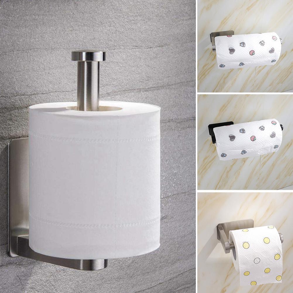 Steel Wall Mounted Toilet Paper Frame Holder Tissue Home Hook Rack Hangers Hardware Organization Towel Bathroom Roll O3P3