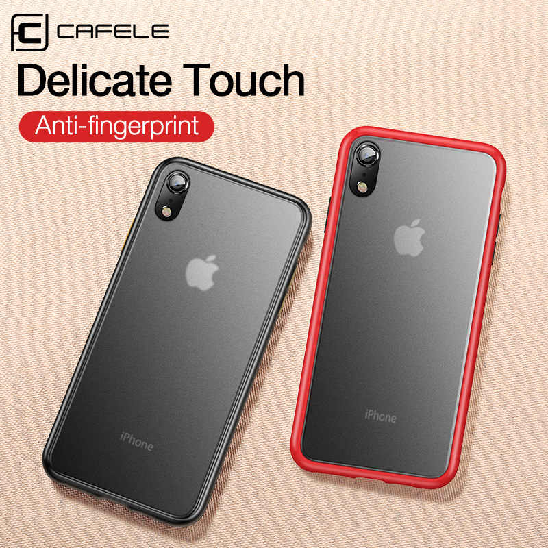 CAFELE 2019 mais novo cor em choque case para iphone silicon + PC caso translúcida para iphone Xr Xr