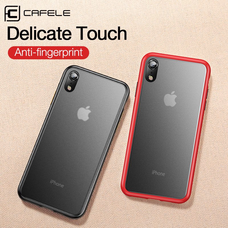 CAFELE 2019 newest color clashing case for iphone Xr silicon+PC translucent