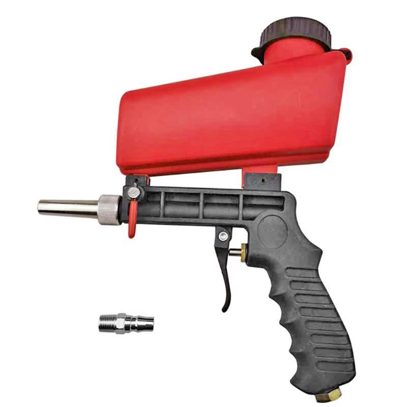 90psi Portable Gravity Sandblasting Gun Aluminium Pneumatic Sandblaster Spray Gun Sand Removal Blasting Power Machine