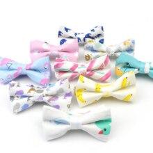Хлопковые детские повседневные рубашки с регулируемым галстуком-бабочкой, галстуки-бабочки для мальчиков и девочек, галстуки-бабочки с животными, свадебные галстуки-бабочки