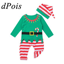 Christmas-Elf-Costume Outfits Costumes Up-Suit Carnival-Dress Role-Playing Baby-Boys-Girls