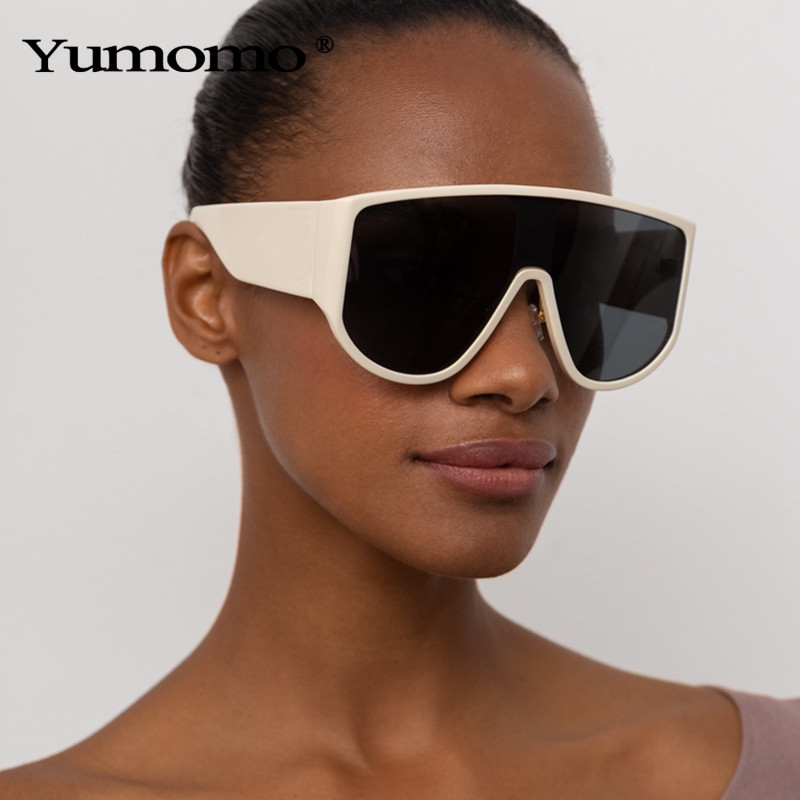 2020 mode surdimensionné lunettes de soleil femmes hommes lunettes de soleil rétro une pièce coupe-vent lunettes miroir lunettes de soleil marque Design UV400