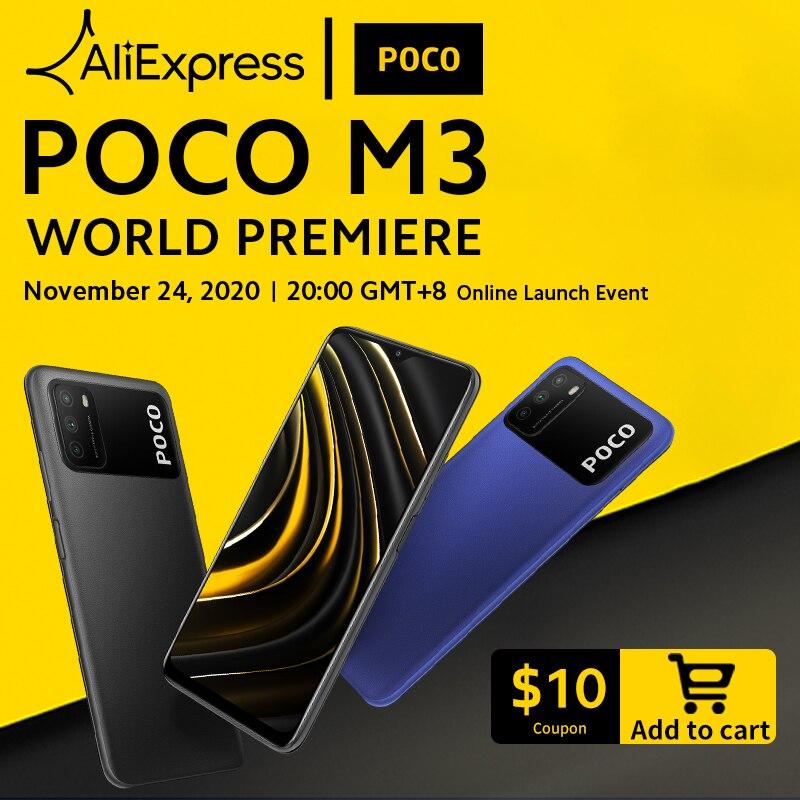 World Premiere POCO M3 Smartphone Snapdragon 662 POCOPhone 6 53 display 6000mAh battery 48MP AI